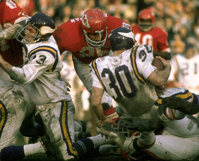 The Crescent City first got in on the action in Super Bowl IV, which pitted Bill Brown (30) and the Vikings against future Hall of Famer Buck Buchanan and the Chiefs in 1970 at Tulane Stadium. The Chiefs won 23-7. Years hosted: 1970, 1972, 1975, 1978, 1981, 1986, 1990, 1997, 2002.
