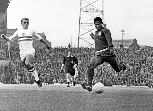 Nicknamed the Black Pearl and the Black Panther, Eusebio found the net nine times in England, including four against North Korea.
