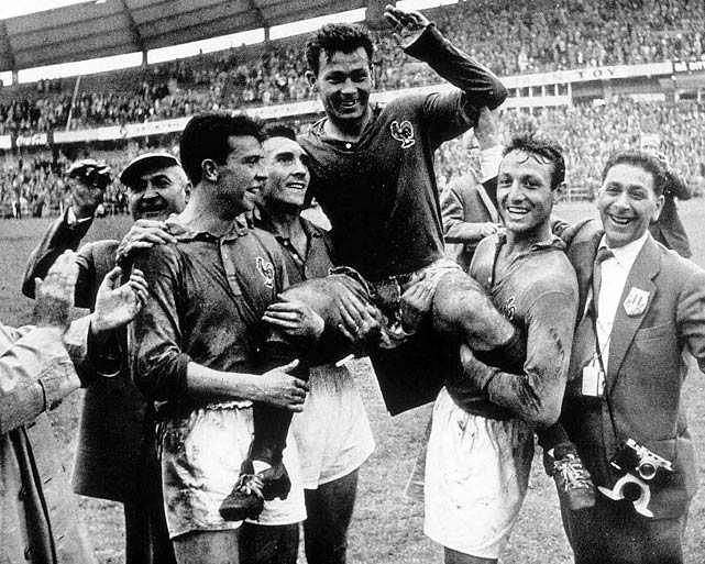 Holds the record for most goals in a single World Cup with 13 in just six games, four in a single game against the West Germans.
