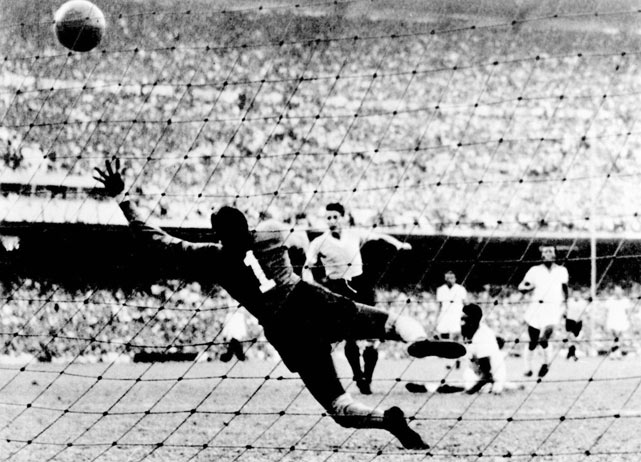 While the United States pulled off the shocker of the competition by beating England, Uruguay joined Italy as two-time World Cup winners. Alcides Ghiggia scored in every game for Uruguay, including the game-winner in the final against host Brazil.