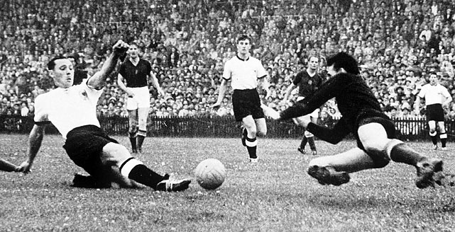 West Germany lost 8-3 to Hungary in the second game of the tournament, but exacted revenge in the final when it overcame an early two-goal deficit to win 3-2. This was the highest-scoring World Cup in history (5.38 goals-per-game average), with Hungary accounting for 26 in five games.