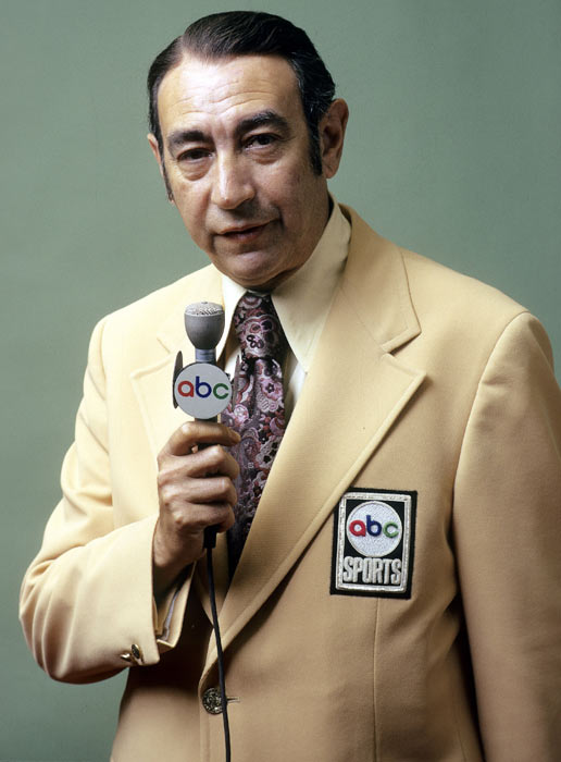 Cosell gained notoriety in broadcasting through his coverage of Muhammad Ali, and in 1970, Cosell helped launch Monday Night Football into the primetime event that it is today. He also worked the Olympics for ABC, the World Series, and announced the death of John Lennon live to millions of MNF viewers in 1980.