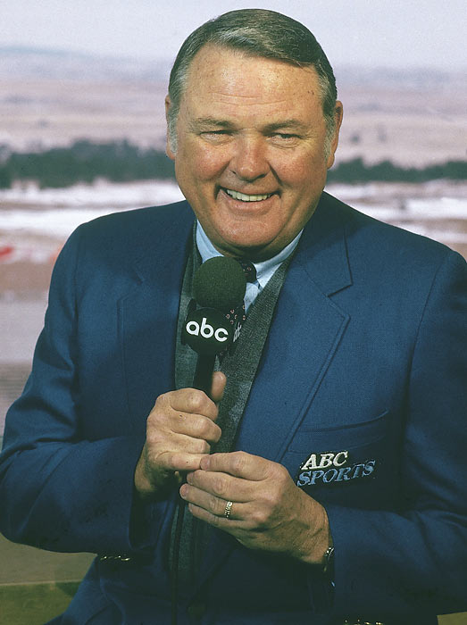 """Jackson's 40-year career as a sportscaster with ABC Sports came to an end in 2006. He focused primarily on college football, but also broadcast the MLB, NBA, NFL, boxing, auto racing, college basketball and the Olympics. Jackson is credited with naming Michigan's stadium """"The Big House"""" and the Rose Bowl """"the Grandaddy of them All."""""""