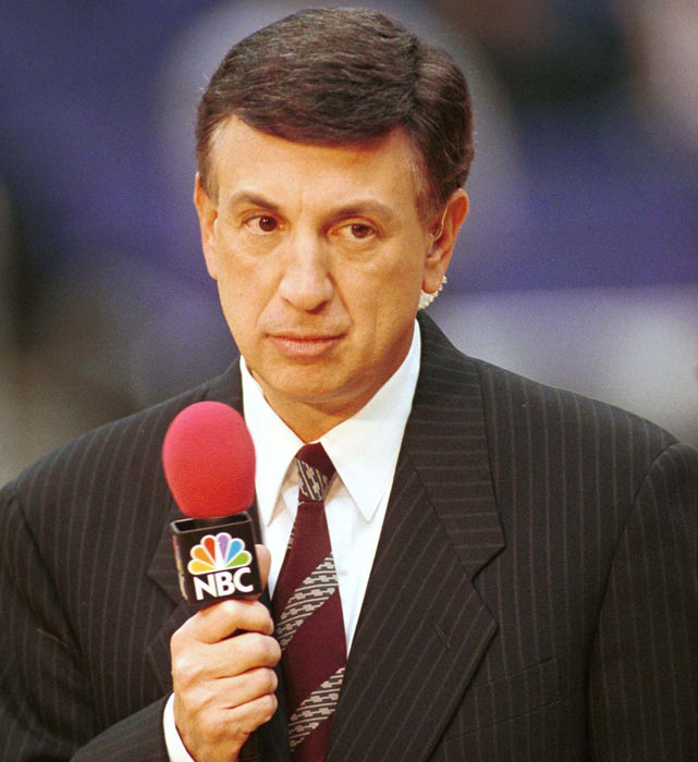 """A New York native, Albert was the radio and TV voice of the Knicks for 37 years, before being let go in 2004. Since, he has continued to do play-by-play on TNT for national games and on the YES Network as the voice of the Nets. Albert is versatile enough that he's called hockey and football, too, moving back and forth between radio and television. Some of Marv's good one-liners include """"Oh! A facial!"""" and """"Re-jected!"""""""