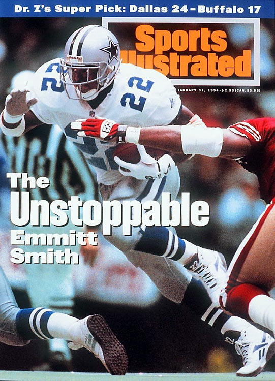 """Cowboys head coach Jimmy Johnson confidently proclaimed that, """"We will win the ballgame, and you can put that in three-inch bold headlines."""" The Cowboys led the 49ers 28-7 at halftime, having scored touchdowns on four of their first five possessions, and withstood the loss of quarterback Troy Aikman to a concussion in the third quarter to hang on for a 38-21 victory. The Cowboys would go on to win their second straight Super Bowl.Send comments to siwriters@simail.com."""