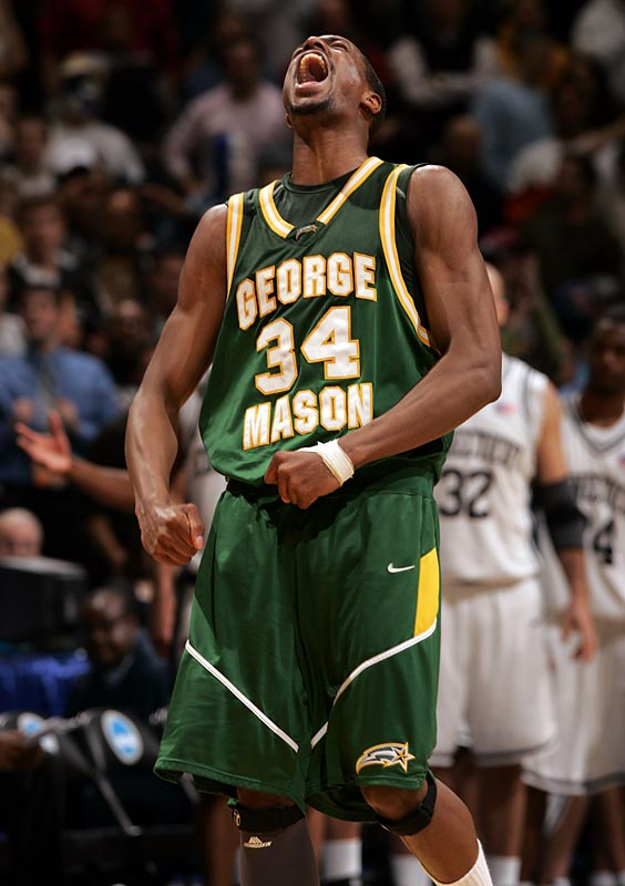 There's always a Cinderella in the NCAA Tournament, and in 2006 it was George Mason. But even after beating basketball powerhouses Michigan State and North Carolina en route to the Elite Eight, no one expected the Patriots to make the Final Four. In front of a home crowd at Verizon Center, Mason dumped No.1-seeded UConn to clinch the most unlikely of Final Four berths.Send comments to siwriters@simail.com