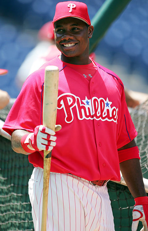 Howard was a dominant minor league slugger who hit 46 home runs between Double-A and Triple-A in 2004, but his path to the majors was blocked by Phillies slugger Jim Thome. Howard finally debuted as a September call-up, striking out in his first big league at-bat as a pinch-hitter. The future NL MVP wouldn't get a hit until his first start, a week later in Atlanta, and still spent two months in the minors in 2005 before settling in the majors for good.