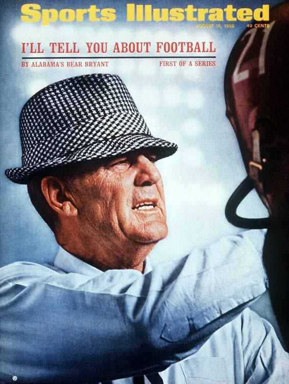 In 38 years at Maryland, Kentucky, Texas A&M and Alabama, Bryant compiled a 323-85-17 record, with just one losing season along the way. The iconic coach with the trademark houndstooth fedora enjoyed the most success with the Crimson Tide, leading 'Bama to six national championships, 14 conference titles and three undefeated seasons. Bryant died 28 days after coaching his last game.