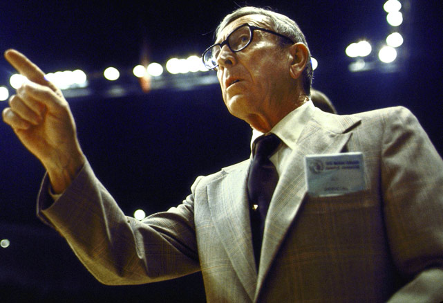 The Wizard of Westwood won 10 national championships -- the most in college basketball history -- in the span of just 12 years. He guided the Bruins to four perfect 30-0 seasons, logging an NCAA record 88 straight wins along the way.