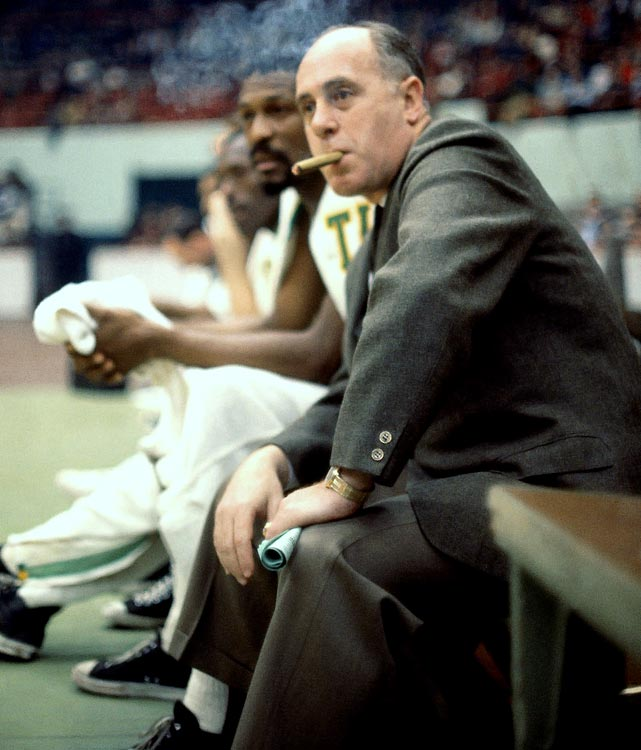 """Arnold Jacob """"Red"""" Auerbach began his career coaching the Washington Capitals for three seasons and the Tri-Cities Blackhawks for one, but he truly took, but everything changed when he took over the Boston Celtics in 1950. Auerbach immediately turned around the cash-strapped franchise, making it competitive on an annual basis. Beginning with the 1956-57 season, Auerbach led the Celtics to nine NBA titles in 10 seasons."""