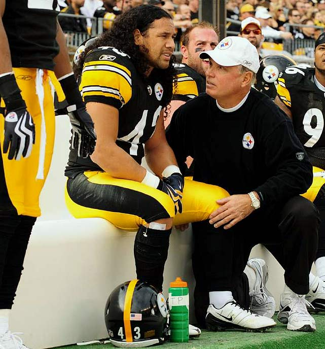 The wear and tear clearly is catching up to Polamalu. After a spectacular start to the 2009 season, Polamalu suffered a knee injury that he later re-injured. The Steelers oft-injured stalwart himself has spoken of the next big knee problem perhaps being a career-ender.