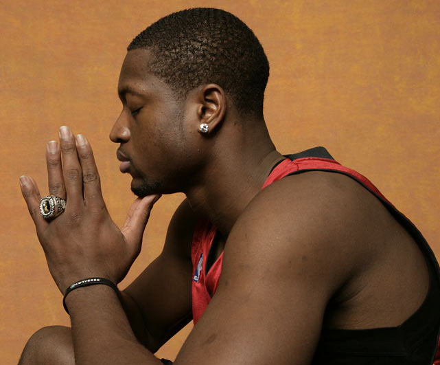 Wade shows off his championship ring.