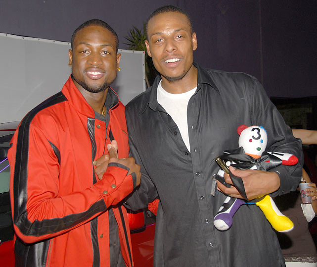 Wade and Paul Pierce attend the BET Celebrity Billiards Bash in Los Angeles.