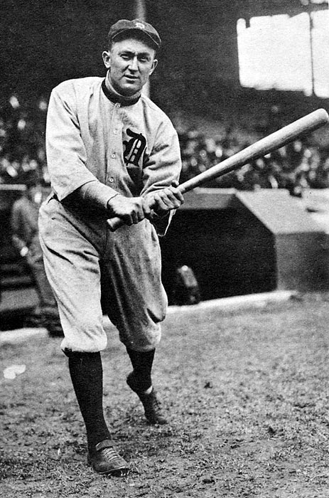 """Ty Cobb smacks his 4,000th hit. """"The Georgia Peach"""" ended up with 4,189 hits to go along with a .366 batting average."""