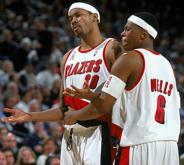 With their incessant bickering and boorish behavior, the Trail Blazers, long cherished in Portland, alienated their customers and disgusted the rest of the league's fans. The biggest lightning rod, of course, was forward Rasheed Wallace, who set an NBA record with 41 technical fouls, threw a towel in the face of teammate Arvydas Sabonis and had to be restrained by teammates from charging coach Mike Dunleavy in the locker room.