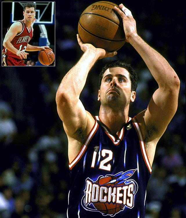 The 1995 Ivy League Player of the Year, the undrafted Matt Maloney began his career in the CBA before getting an opportunity with the Rockets. As a rookie in 1996-97, he started all 82 games for a Houston team that reached the Western Conference finals and featured Hakeem Olajuwon, Charles Barkley and Clyde Drexler. Maloney, a career 7.4-point scorer and 37.2 percent three-point shooter, also had stints with Chicago and Atlanta in his six NBA seasons.