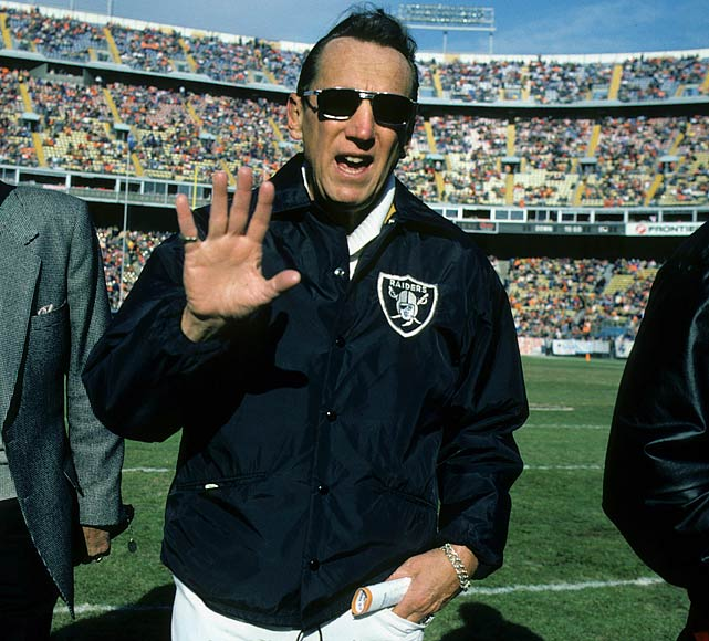 Raiders owner Al Davis shunned the luxury box for the sidelines during this early December matchup with the Denver Broncos. Davis has never shied away from the limelight during his tumultuous tenure as owner of the Silver and Black.