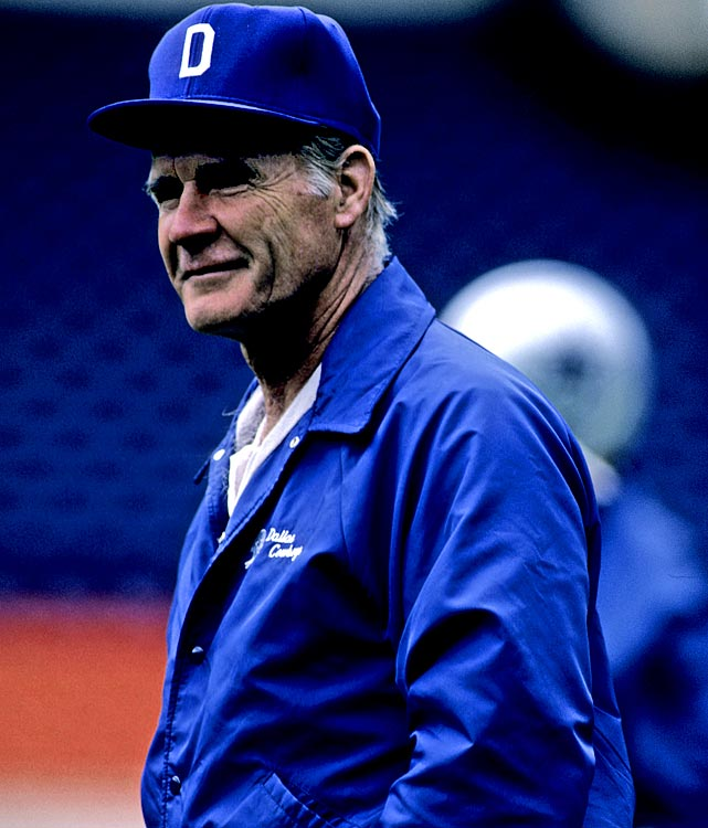 Legendary Cowboys coach Tom Landry led Dallas to a 10-6 regular season to win the NFC East, but the 'Boys were shut out by the L.A. Rams 20-0 in the first round of the playoffs. The 1985 season was the last in a string of 20 consecutive winning seasons by Landry's team.