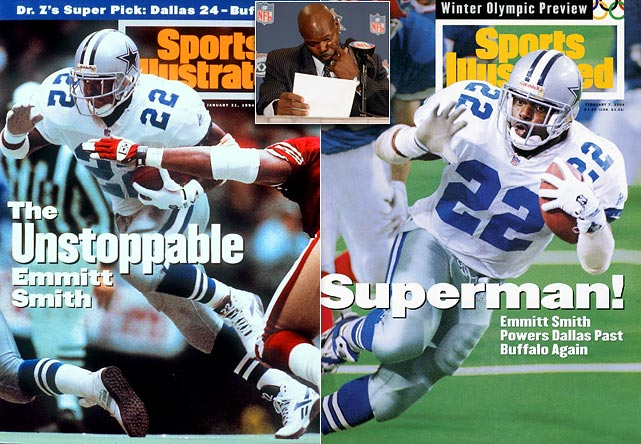Smith went to Arizona for two seasons before retiring in February 2005 with Dallas, holding a press conference three days before the Super Bowl. Smith became the NFL's all-time leading rusher in 2002 while with the Cowboys.