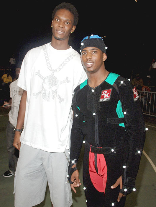 Bosh and Chris Paul attend the 2K Sports Motion Capture Shoot at Rucker Park in Harlem.