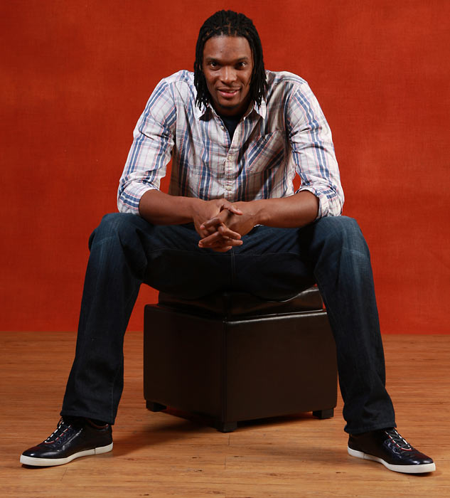 Bosh poses for a portrait during the 2010 All-Star Weekend.