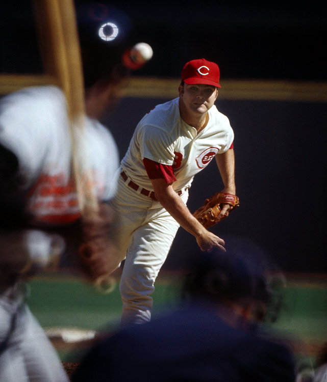 Nolan debuted for the Reds at 18 in 1967 and became a sensation, striking out 206 batters as a rookie and finishing 14-8 with a 2.58 ERA. He pitched well through 1972, winning 15 games, posting a 1.99 ERA and making his only All-Star team. But he got hurt the next year and pitched just two games in 1973 and none in '74. Though he posted back-to-back 15-win campaigns in 1975 and '76 to help the Reds win two World Series, he got hurt again and was forced to retire at age 29 in 1977.