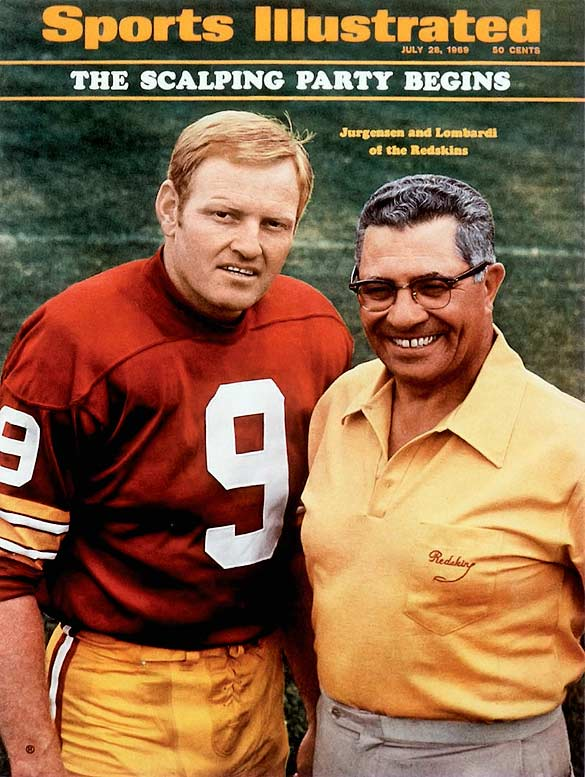 A drop-back passer with exceptional accuracy, Jurgensen threw for 32,224 passing yards and 255 touchdowns over 18 NFL seasons (11 with the Redskins and seven with the Eagles).Runner-up: Drew BreesWorthy of consideration: Tommy Kramer, Jim McMahon, Steve McNair, Carson Palmer