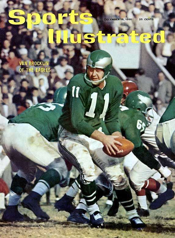 """""""The Dutchman"""" led the Eagles to an NFL Championship in 1960, the same year he was named NFL MVP. Van Brocklin won passing titles in 1950 and 1952 and was named to nine Pro Bowls.Runner-up: Phil SimmsWorthy of consideration: Drew Bledsoe, Larry Fitzgerald, Danny White"""