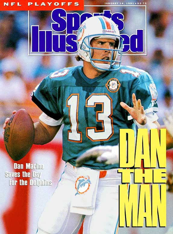 With 61,361 yards passing and 420 touchdowns, Marino is the second most prolific passer in NFL history. He was the first player to pass for 5,000 yards in a season and finished 13 seasons with at least 3,000 yards passing. He was selected to nine Pro Bowls and led the Dolphins to a Super Bowl appearance in the 1984 season.Runner-up: Kurt WarnerWorthy of consideration: Dave Jennings, Don Maynard, Frank Ryan, Ken Riley, Jake Scott