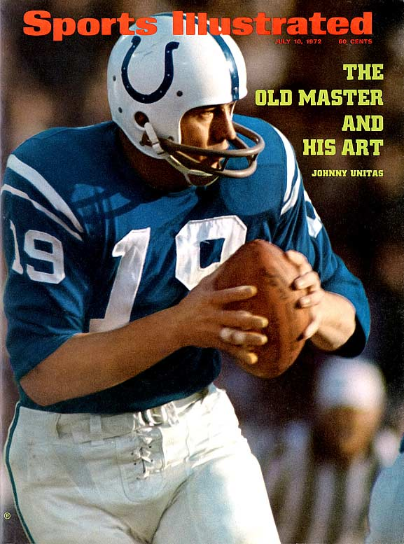 He's on the short list for the game's greatest quarterbacks. Unitas was the first passer to throw for 40,000 yards and was the quarterback selected for the NFL's All-Time team as voted by the Pro Football Hall of Fame voters in 2000.Runner-up: Lance AlworthWorthy of consideration: Bernie Kosar