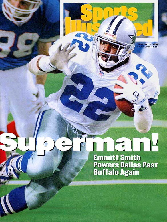 The NFL's alltime rushing leader won three Super Bowls as a member of the Cowboys. In 1993 he won the league's MVP, rushing crown (1,486 yards) and Super Bowl MVP, the only player to hit that triple in NFL history.Runner-up: Bobby Layne (Lions)Worthy of consideration: Dave Brown, Frank Gatski, Bob Hayes, Mike Haynes, Paul Krause, Bobby Layne, Asante Samuel, Buddy Young