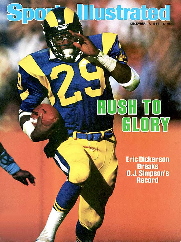 An electrifying open-field runner, Dickerson ran for an NFL-record 2,105 yards in 1984 and gained 1,800 or more rushing yards in three of his first four seasons. He was inducted into the Pro Football Hall of Fame in 1999.Runner-up: Alex WebsterWorthy of consideration: Joseph Addai, Hanford Dixon, Albert Lewis (Kansas City), Sam Madison
