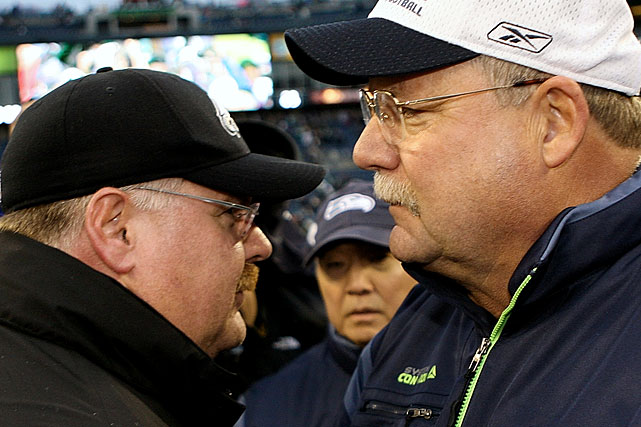 Who needs lasik surgery? Andy Reid has made it cool to be professorial and a football four-eyes, after Holmgren, who could be Reid's long lost brother, started the trend.