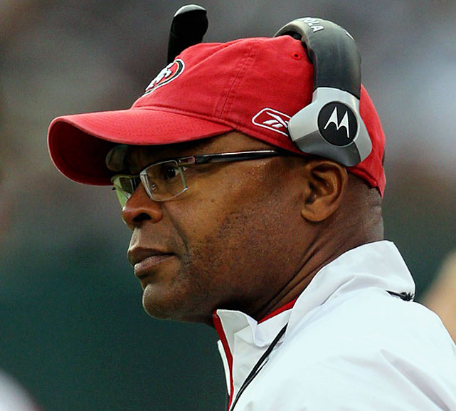 """Usually, when a player catches a coach's eye it's a good thing. Not always in Singletary's case. With a stare that could melt polar ice caps, Singletary can scare a player straight with just a look. Just ask tight end Vernon Davis. """"Cannot play with them. Cannot win with them. Cannot coach with them. Can't do it."""" (Who would you add to the list? Send comments to siwriters@simail.com)"""