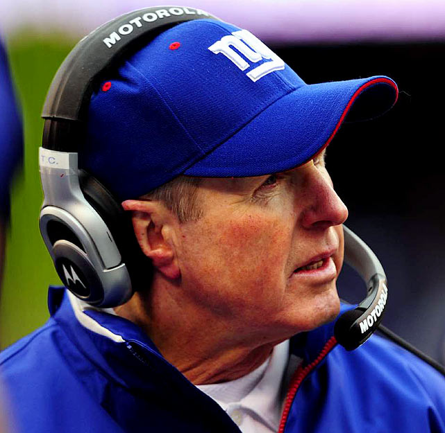 """One of these days, Coughlin's cheeks are bound to show up on an injury report. That is, """"Coughlin. Red cheeks. Doubtful."""" Really, now, somebody get this man a muffler and some ear muffs. Come winter games, it hurts to look at him."""