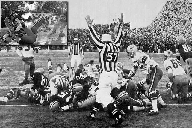 The coldest NFL game on record (13 degrees below zero; 48 degrees below zero with the wind chill) transformed Lambeau Field into a frozen tundra and gave many a player frostbite in 1967. The game featured 14 future Hall of Famers, a thrilling ending and marked the last time that the NFL Championship game was considered more important than the Super Bowl.