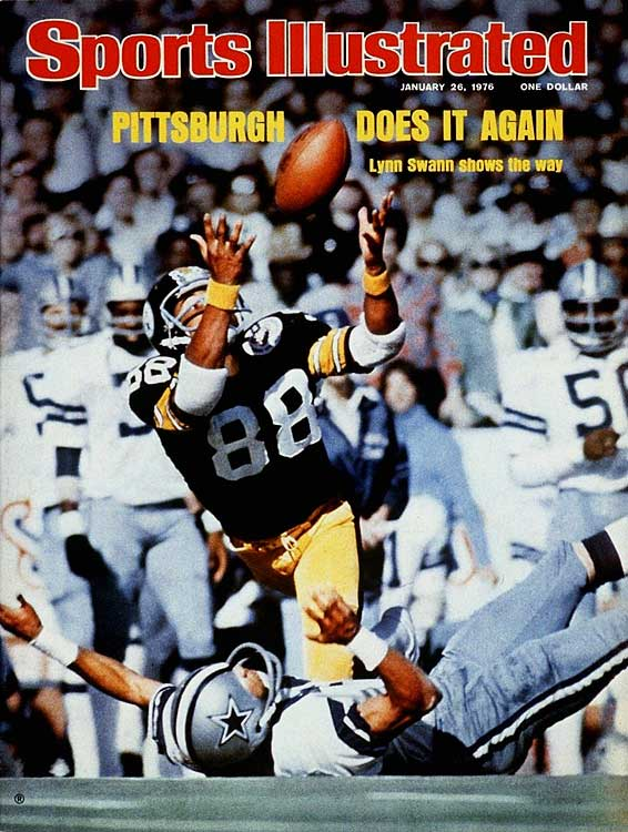 After Lynn Swann suffered a severe concussion in the AFC Championship Game, few in the Steel City expected him to play in Super Bowl X.  Not only did he play, but also he won Super Bowl MVP.  Swann's most iconic play of that Super Bowl came on a 53-yard pass from Terry Bradshaw when Swann stumbled over a defender and managed to catch the ball.  Compared to more recent impressive Super Bowl catches, Swann is humble, giving credit to both Santonio Holmes and David Tyree in an interview with the  New York Daily News.