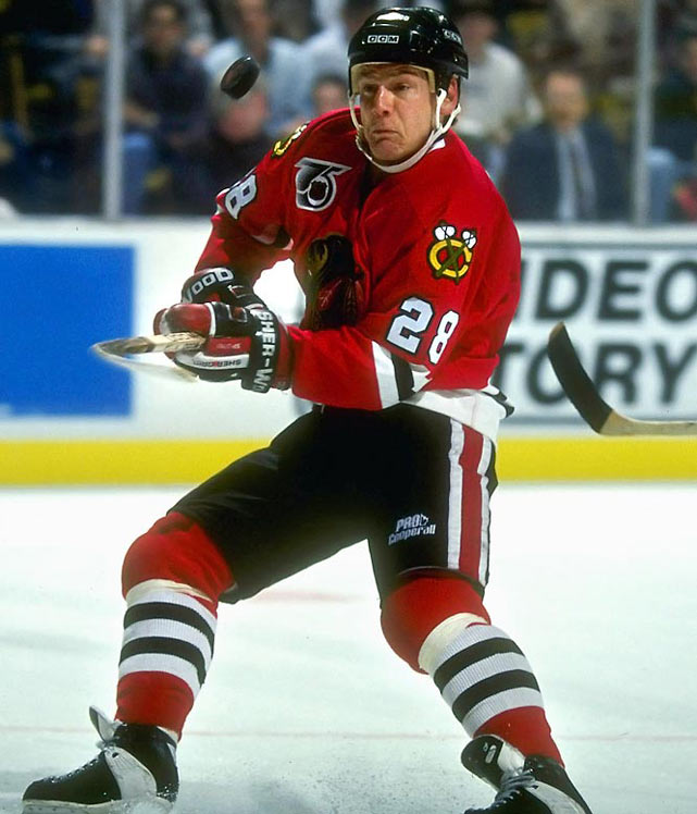 The list of wearers includes Steve Duchesne, Reed Larson, Pierre Larouche and Tie Domi, but Larmer had the most distinguished career, playing at better than a point-per-game pace for almost 13 full seasons from 1982-95.