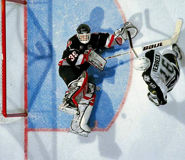 The Dominator took the number he made famous when he was dealt to the Sabres and found his old 31 taken by Grant Fuhr.