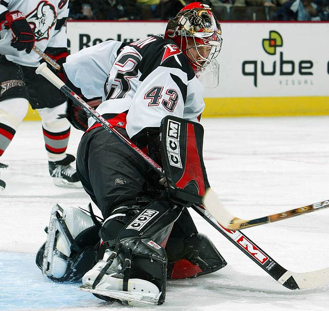 Currently the Rangers' backup behind Henrik Lundqvist, Biron wore 43 with some distinction in Buffalo and Philadelphia where he had four winning seasons as a starter, his most recent best being a 30-20-9, 2.59 GAA campaign for the Flyers in 2007-08.
