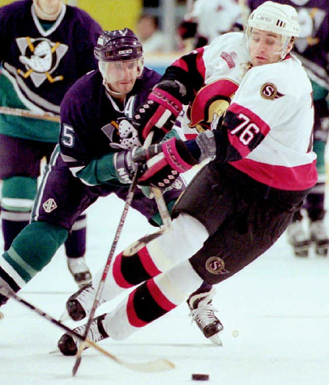 He probably deserves the nod just for his distinctive name, but the third overall draft pick of 1994 wore 76 during his first three seasons with Ottawa before stretching his relatively disappointing NHL career out for nearly 1,000 games and then departing for the KHL in 2009. As a 76, Bonk scored more than winger Andrew Peters did with the Sabres (2003-09).