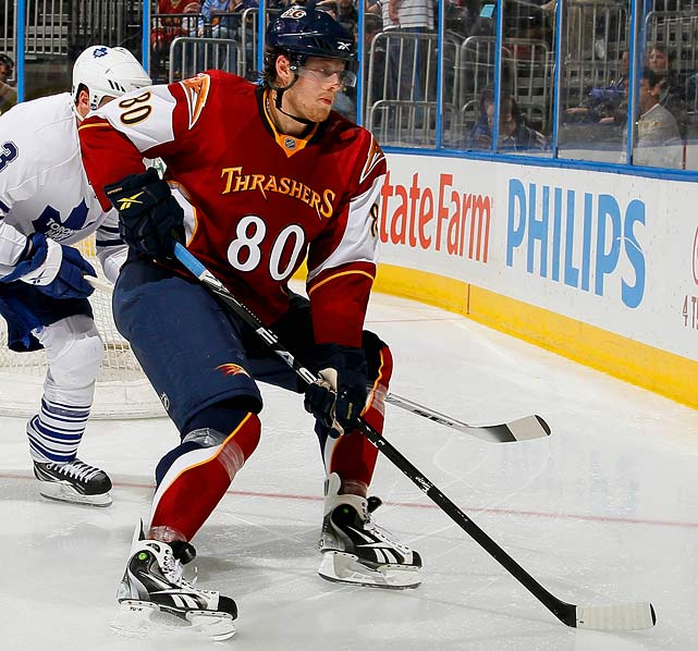 The 1998 first-rounder (10th overall by Toronto) has been in the 25-goal, 60-point neighborhood twice with three teams since his selection. A better choice would be Geoff Sanderson, who had six seasons of at least 30 goals, but alas he wore 80 only during a dismal mid-career season in Buffalo.