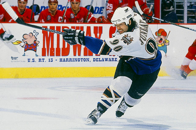 He had his best years in Boston, including a 32-goal, 102-point season in 1992-93, while wearing 49, but adopted 90 as his career wound down with Washington, Buffalo, Phoenix and Montreal.