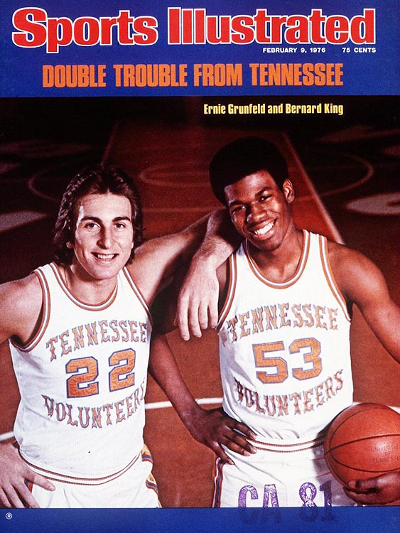 """The leader of the """"Ernie and Bernie Show"""" at Tennessee (along with future TNT analyst Ernie Grunfeld), Bernard King (right) dazzled Knoxville as an 18-year-old. He tallied 26.4 ppg, 12.3 rpg and shared the SEC Player of the Year honors with Kentucky's Kevin Grevey. In 2007, the Volunteers retired King's number 53."""