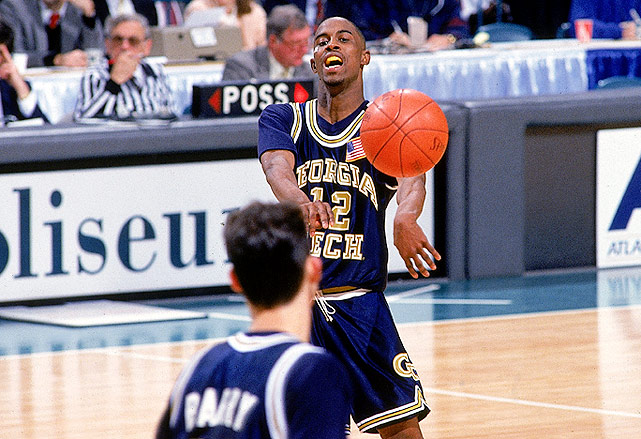 New York City is known as the breeding ground for the nation's best point guards. Georgia Tech has produced its share of great point guards as well, and thus it made perfect sense that New York legend Kenny Anderson would take his talents to Atlanta. Known for his ball-handling prowess, Anderson led the Yellow Jackets to the Final Four on averages of 20.6 points and 8.1 assists per game during his freshman year.