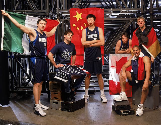 Under Cuban, the Mavs capitalized on the NBA's growth in international players including Eduardo Najera (Mexico), Cuban, Wang Zhizhi (China), Steve Nash (Canada), Tariq Abdul-Wahad (France) and Dirk Nowitzki (Germany).