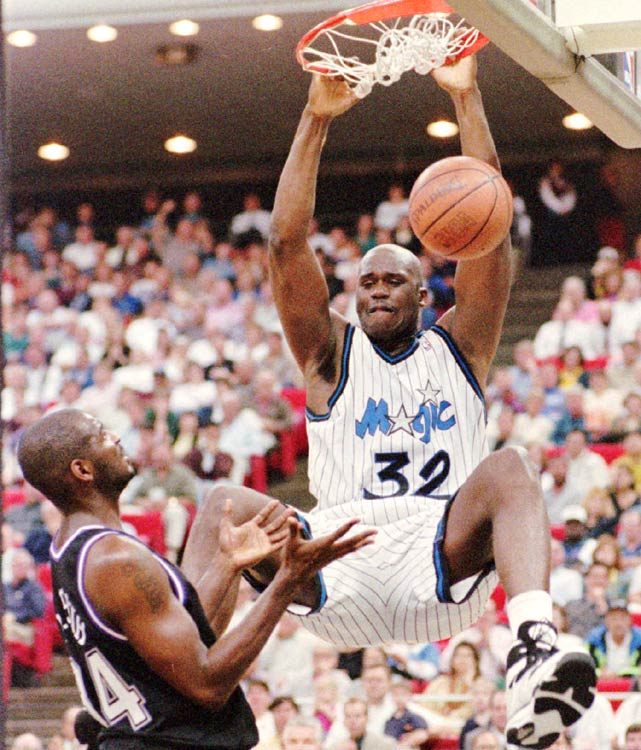 Shaq came out of LSU as one of the most dominant players in college history and soon showed he'd have his way with the NBA, as well. With a rare combination of power and athleticism, O'Neal put up 23.4 points, 13.9 rebounds and 3.5 blocks per game his rookie season, with the latter two marking career highs for the future Hall of Famer.