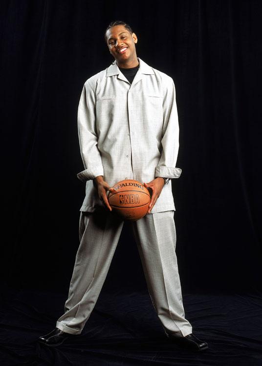 You know those awkward rookie portraits? Here's one of Carmelo.