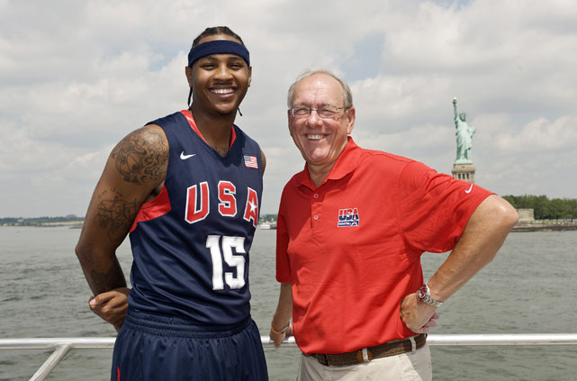 Anthony and Jim Boeheim, a Team USA coach and Carmelo's coach at Syracuse, spent some quality time together in the Big Apple.