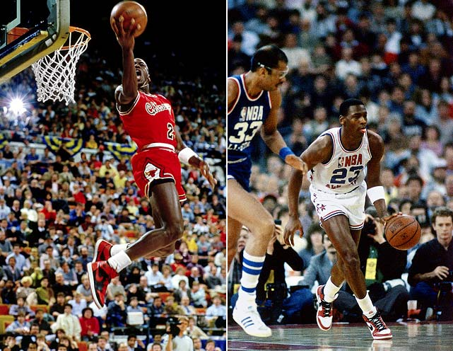 """In his first season as a pro, Jordan averaged 28.2 points on 51.5 percent shooting and was voted an All-Star starter and the league's Rookie of the Year. All signs pointed toward a spectacular career, but few could've seen what """"His Airness"""" had in store. Six NBA championships, six Finals MVP awards, five NBA MVP awards, two Olympic gold medals, 10 NBA scoring titles, 14 All-Star selections, three All-Star Game MVP awards a spot in the Hall of Fame and -- and -- a reputation (according to many) as the greatest player to step foot on the court."""